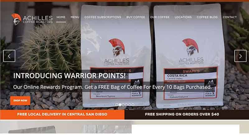 wholesale coffee roasters in san diego - achilles coffee