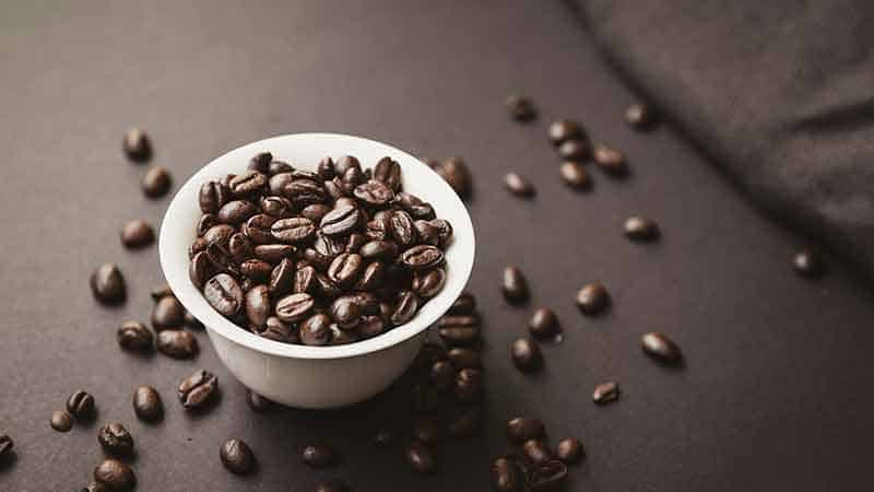 burst of java - coffee beans in a bowl