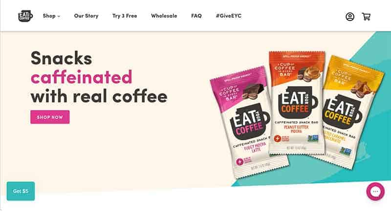 eat your coffee home page