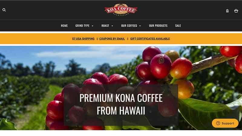 koa coffee website